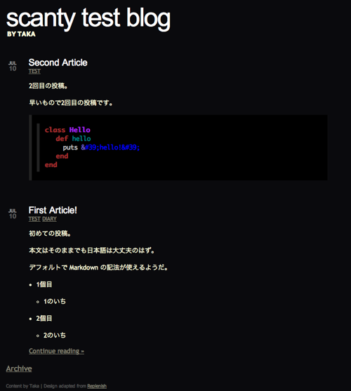 scanty-blog-list